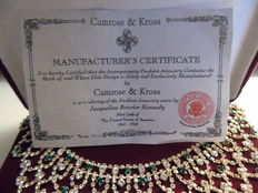 Rare fancy Jacqueline Bouvier Kennedy gold-plated - Simulated diamond & emerald necklace of Camrose & Kross