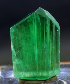 Double Terminated & Damage Free Lush Green Kunzite Hiddenite Crystal - 60 x 36 x 10mm - 53 gm