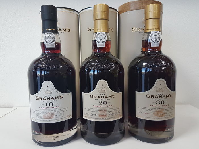 Graham's Aged Tawny Port: 10 & 20 & 30 years old - 3 Bottles (0.75L)
