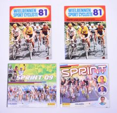 Panini + Variant of Panini (Fher) - Cycling - Sprint + Wielrennen Sportcycliste 81 - 4 complete albums.