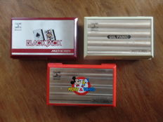 Lot of 3 Nintendo Game & Watch - Black Jack - Oil Panic - Mickey & Donald