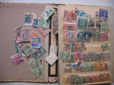 World - with Europe and Germany, many old postal stamps in many baggies.