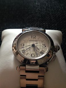 Cartier Pasha GMT Ref. 2377 – Men's watch – circa 2000.