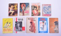 Cult; Lot with 9 erotic pulp paperbacks - 1964/1967