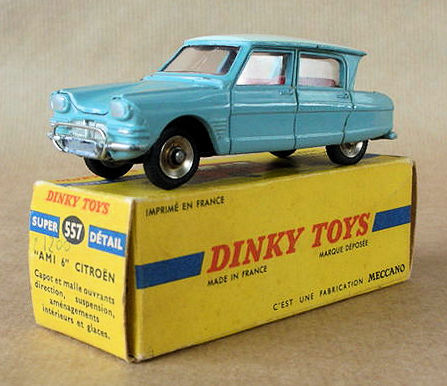 Dinky Toys-France - Scale 1/43 - Citroën Ami 6 No.557