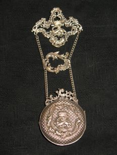 Porte-montre, chatelaine with pocket watch Royalty France - 2nd half of 19th century