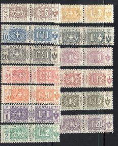 Italy, 1914-1922 - Complete series of 13 stamps, Sassone no. 7-19