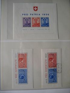 Switzerland 1936 / 2000 - block collection with approx. 45 blocks in a ring binder