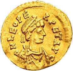 Roman Empire - Gold Tremissis of Emperor Leo I (457-474 A.D.) minted in Constantinople