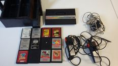 Atari 2600 Gaming Lot containing 1 Console, 2 Controllers, 12 Games and 1 Wooden Case