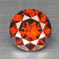 0.10 cts.  brilliant cut diamond Sparkling Red SI1