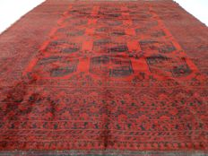 """Semi-antique Afghan – 302 x 252 cm – """"Persian carpet – 100% Wool – In beautiful used condition"""""""