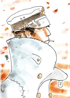 "Babini, Stefano - ""Corto Maltese"" Watercolour"