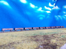 Prefo N - 0013 - 9 open PKP RIV freight wagons type Omm 34