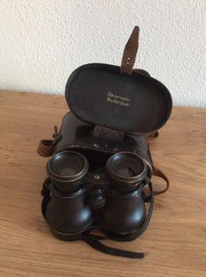 Opera glasses - 1960s - Observator Rotterdam including leather bonbon cover.