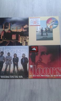 Lot of 4 x Vinyl : The Doors Waiting For The Sun , The Doors  – Live New York 180 Gram , Pink Floyd  – Wish You Were Here , Pink Floyd  – Animals