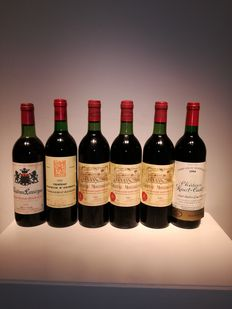 1980 Chateau Lassegue - SaintEmillion GC  & 1994 Chateau Haut Cadet - Saint Emillion GC  & 1986 Chateaux Macquin Saint Georges - Saint Georges Saint Emillion & 1983 Chateau Montaiguillon - Montagne Saint Emillion -