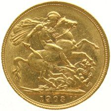 England – Sovereign 1903, Edward VII, gold