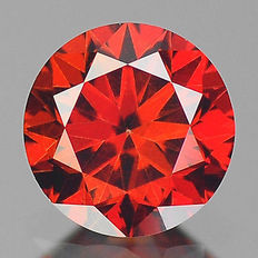 0.09 cts.  brilliant cut diamond Sparkling Red SI1