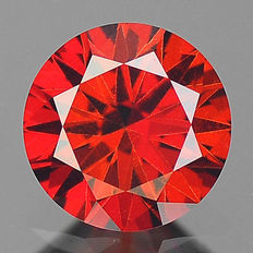 0.21 cts.  brilliant cut diamond Sparkling Red SI1