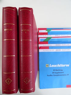Netherlands 1960/2001 – Complete collection in two Leuchtturm pre-printed albums + supplements