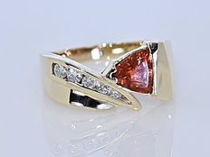 Fire Opal and Diamonds ring - No reserve price!