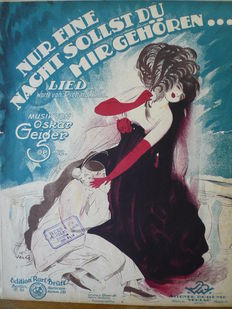 Collection of 69 antique sheet music pieces 1900 - 1940