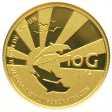 "The Netherlands Antilles - 10 guilder 2007 ""Year of the Dolphin"" - 1/25 gold"