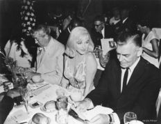 Ernst Haas - Marilyn Monroe, John Huston and Clark Gable - 1960