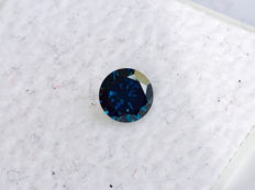 Blue Diamond - Brilliant Cut - 0.245 ct - without reserve price