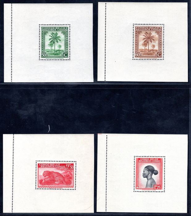Belgium congo 1943 - Messages blocks  - COB BL3 / BL10