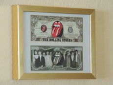 Two Original 50th Anniversary Rolling Stones Dollars - England London - One Million Dollars - In The Stones We Trust
