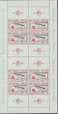 France 1964 - 2 Yvert block 6 with and without number