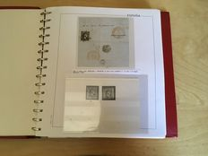 Spain 1851-1922 - Specialised collection of stamps and letters in album.