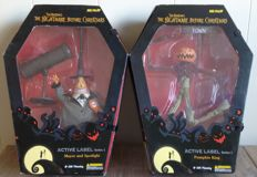 Nightmare Before Christmas - Jun Planning - Series One - 2x figures - Pumpkin King + The Mayor with Spotlight