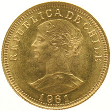 Chile – 50 Pesos 1961 – gold