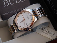 Bulova lady luxury  12 diamond watch