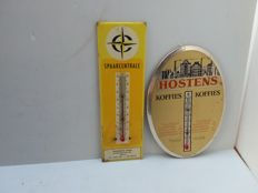 Old cardboard signs with thermometer - Belgium - 1970.