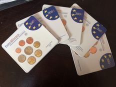 Germany - euro coin collection 2004 A, D, F, G and J (5 pieces)