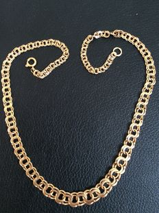 18k gold nacklace made around 50s  in Sweden