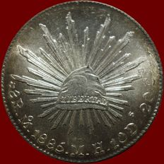 Mexico - 8 Reales 1885 Mo MH - Silver