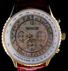 Calvaneo 1583 – Defcon Diamond Gold – CM-DEF-GC-0106 – Chronograph – Men's wristwatch – Never worn, 2016