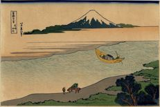 Hokusai print, 36 Views of Mount Fuji (recarved) – Japan – circa 1900