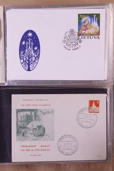 European countries 1955/2000 – Batch ± 750 FDC/Covers in 5 albums + 4 folders