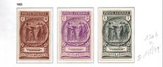 Italy 1915/1924 -  Small lot of 46 stamps