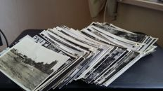 lot of 220x small format black white postcards, period: 1940-1960 The Netherlands very varied lot.