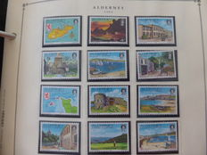 Alderney 1983/2004 - with many Gutter pairs / booklets extra on Scott album sheets