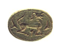 Scarab, sphinx with human head Stone l = 24.7mm