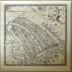 Cornelis Antoniszoon & Stadsdrukkerij Amsterdam-Amsterdam map in Bird's eye view (1544)
