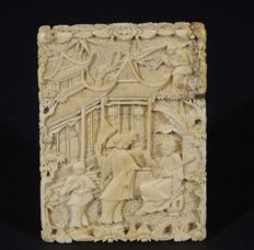 Ivory business card holder - China - approx. 1900